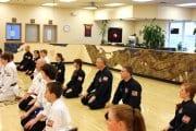 Martial Arts Class Kneeling